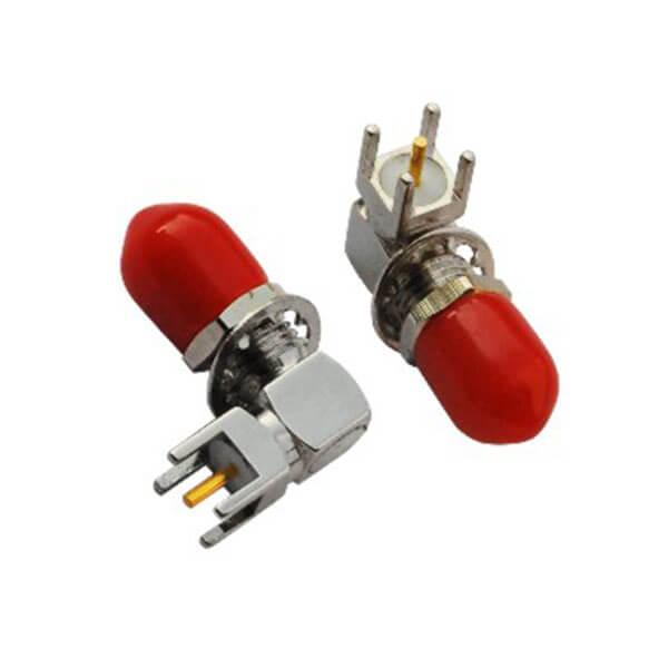 sma同轴连接器接头母头防尘弯式PCB板端