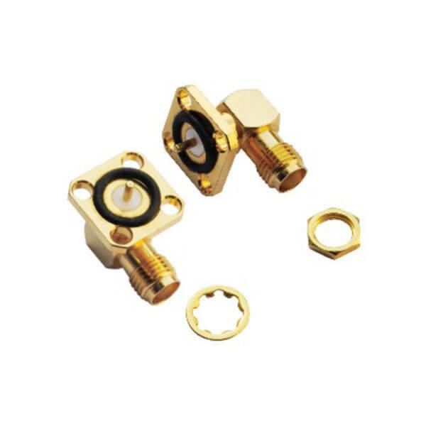 sma4孔方形法兰面板连接器防水