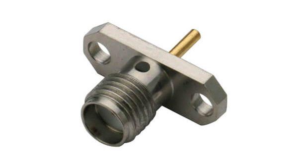 sma射频同轴2孔法兰盘座直式连接器母头