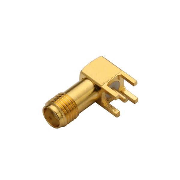 SMA弯式母接头pcb插板连接器