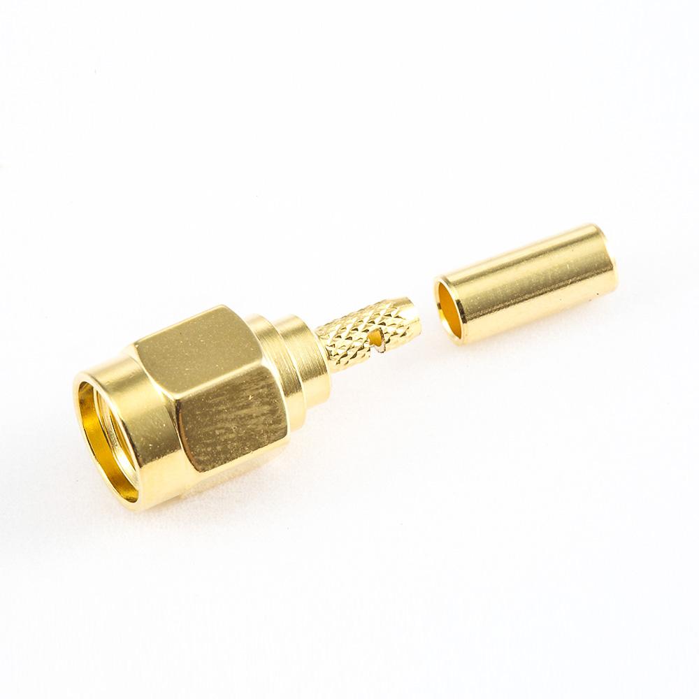 SMA公头用于RG174 / RG316 / LMR100连接器直式焊接